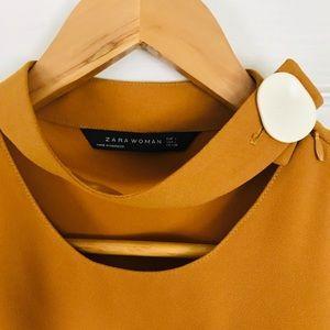 Zara Woman size L mustard blouse